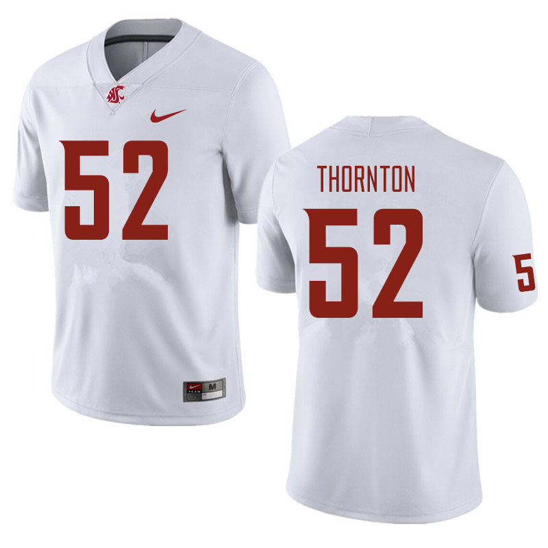 Men #52 Kyle Thornton Washington State Cougars Football Jerseys Sale-White
