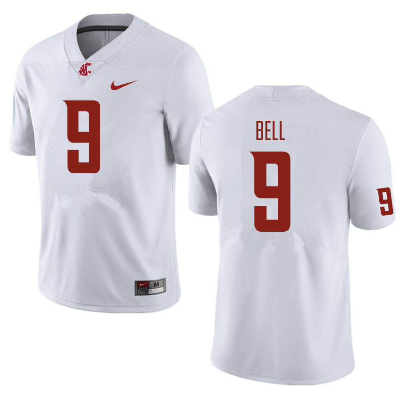 Men #9 Renard Bell Washington State Cougars Football Jerseys Sale-White