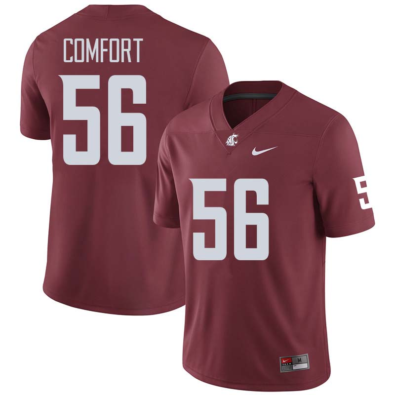 Men #56 Taylor Comfort Washington State Cougars College Football Jerseys Sale-Crimson